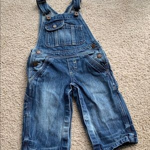 GK Oshkosh denim sandblasted jean overalls